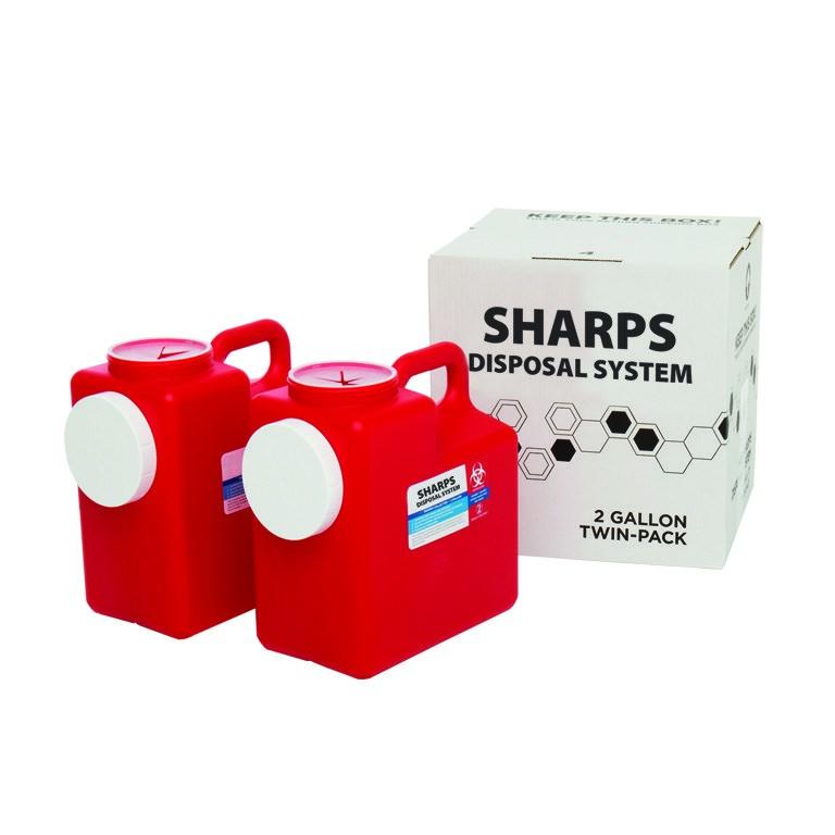 2 Gallon 2 Pack Sharps System